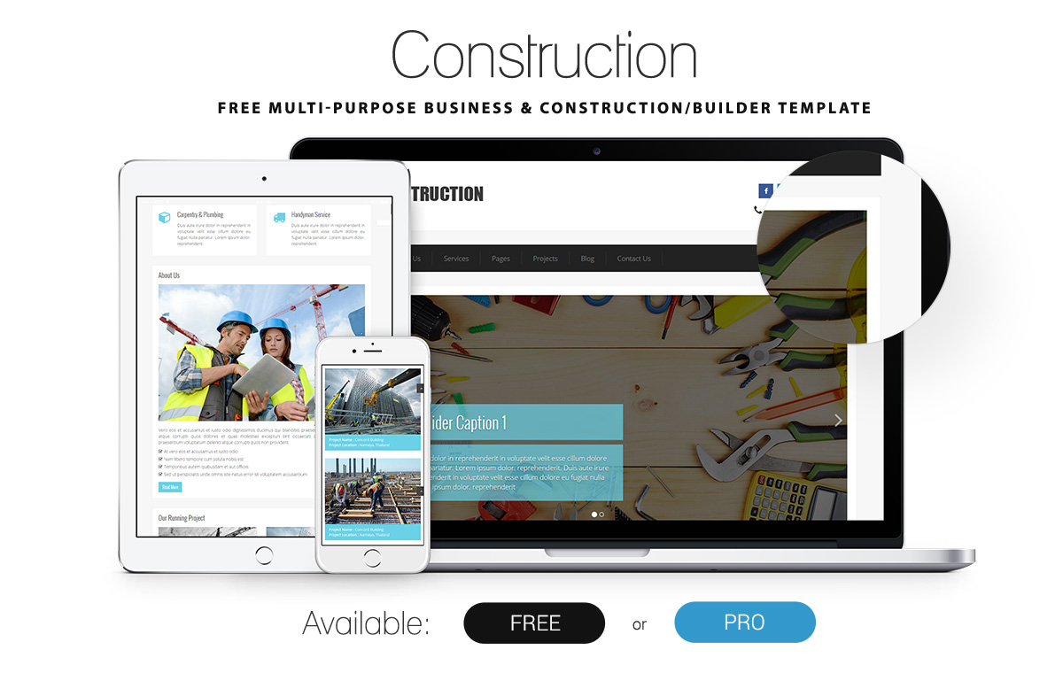 Construction  Free Construction Html Template  Graygrids