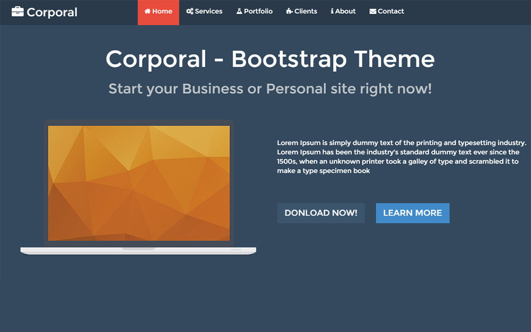 Top Free Bootstrap Html5 Responsive Templates The Camp