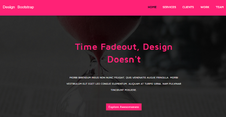 Pink Free Responsive Business Landing Page GrayGrids - Bootstrap landing page template free download