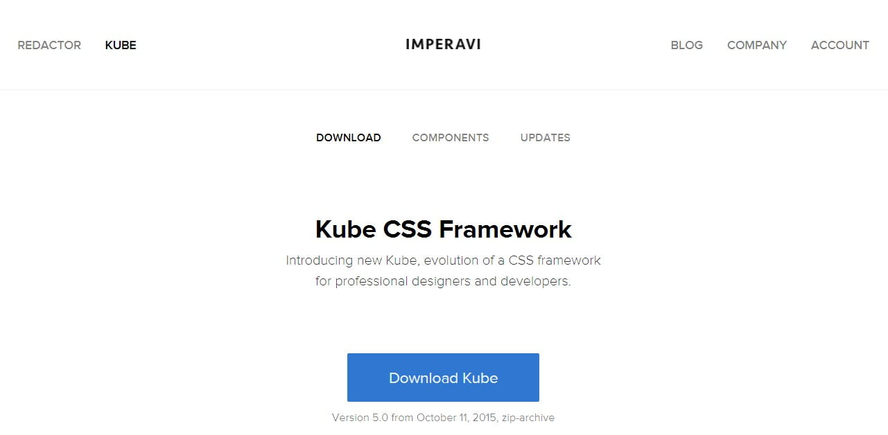 30 best responsive css front end frameworks kube css framework malvernweather Gallery
