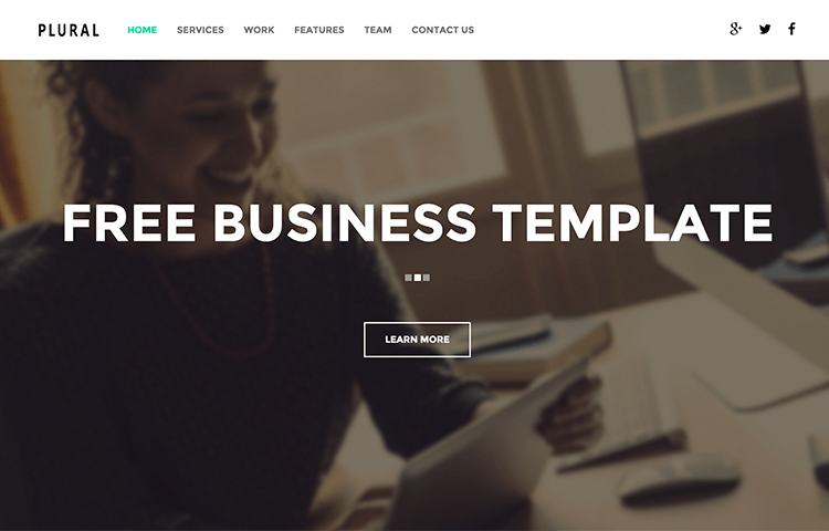 html5 business template plural is really good choice for business