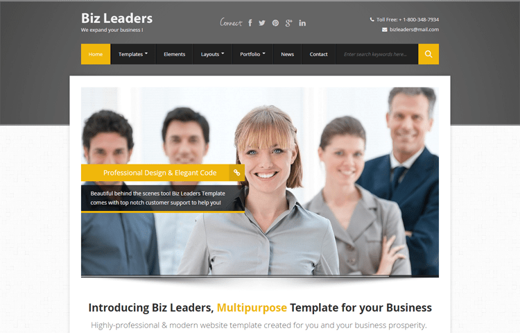 Biz leaders business html template graygrids biz leaders business html template flashek Gallery