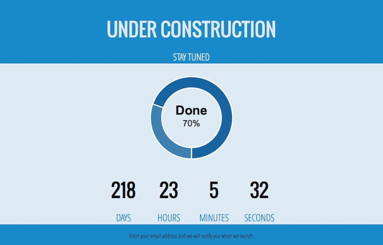 Booconstruct Free Under Construction Bootstrap Template