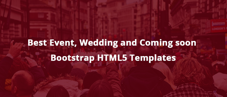 30  best event and coming soon bootstrap html5 templates
