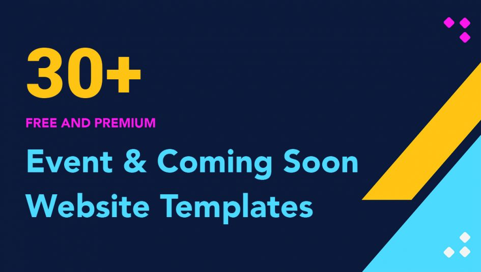 30+ Best Free Event and Coming Soon Bootstrap Templates 2019