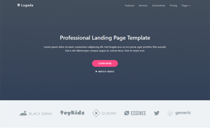 Folio Personal HTML Template GrayGrids - Personal landing page template
