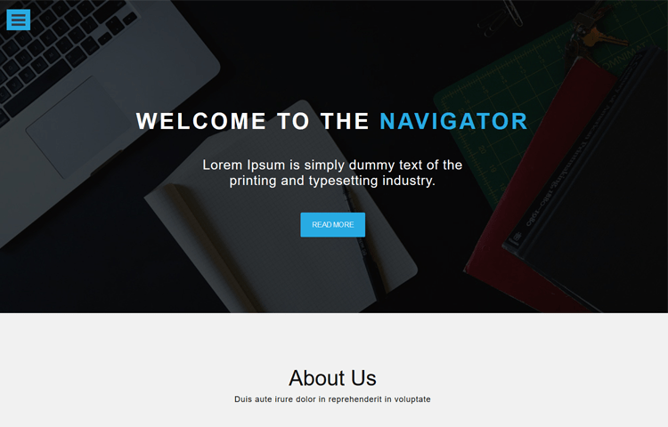 Navigator - Free One page Business Template | GrayGrids