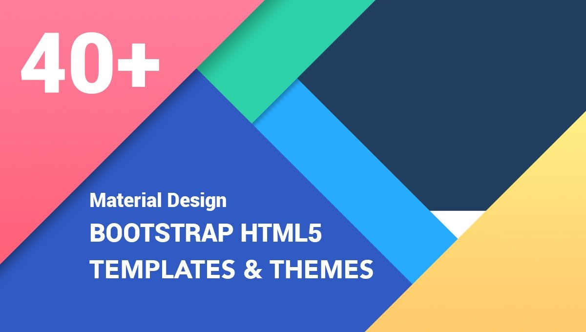 40  best free material design bootstrap templates 2019