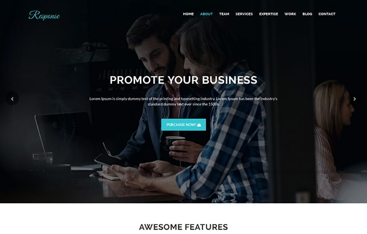 40 best free premium bootstrap landing page templates themes response html5 business landing page template flashek Image collections