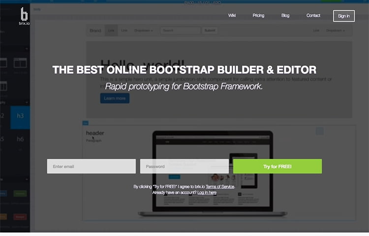The tool is the first website builder that allows user to design