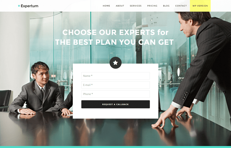 Expertum free bootstrap html business template graygrids expertum free bootstrap html business template accmission Choice Image