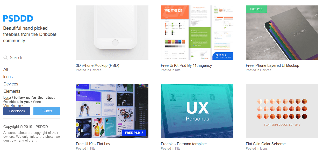 20+ Top Sites to Free Download High-Quality Design Freebies