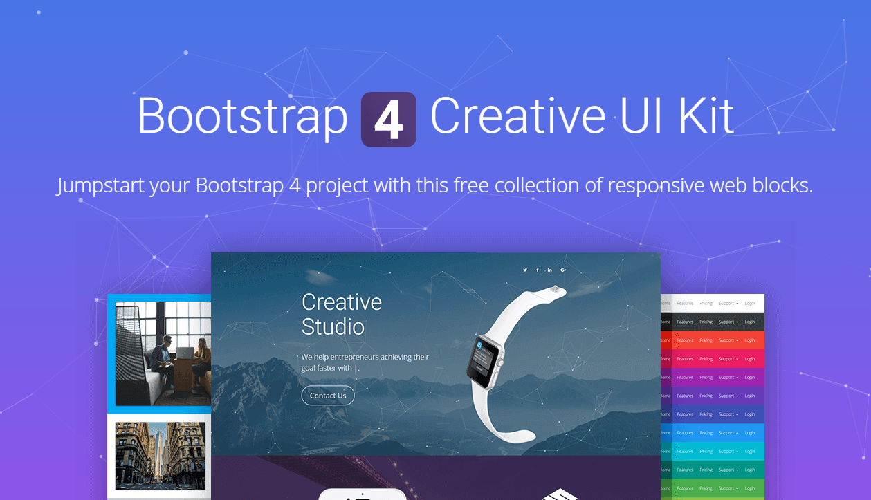 Best Free Bootstrap 4 Resources - Themes, UI Kits and Freebies