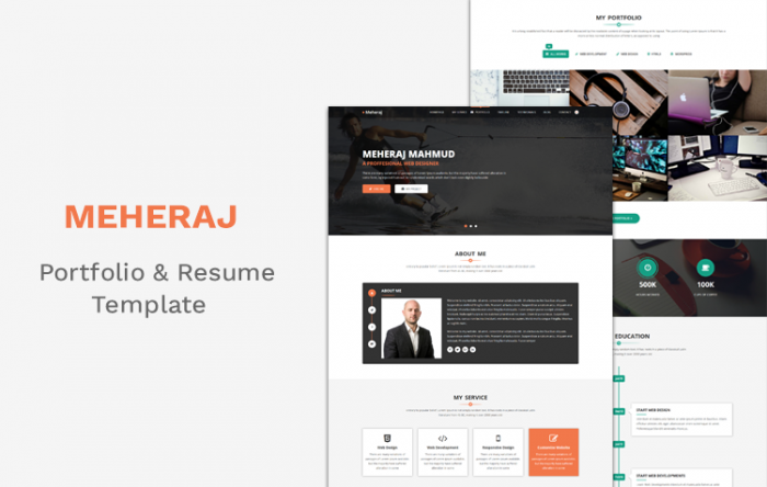 50 bootstrap html5 personal resume templates and themes