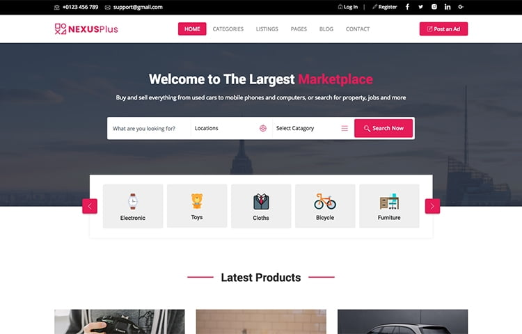 10 best free classified ads and listing website templates