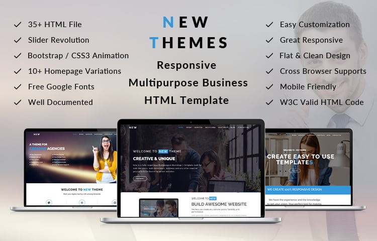 New Multipurpose Responsive Html5 Template Graygrids