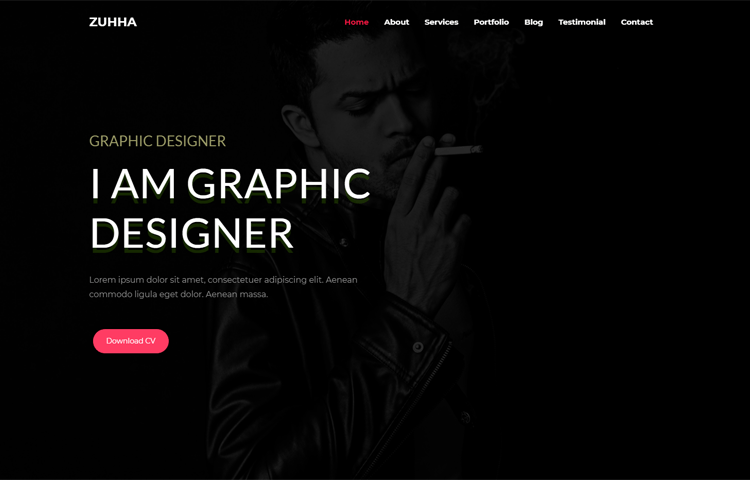 Zuhha - Responsive Bootstrap 4 Personal Template | GrayGrids