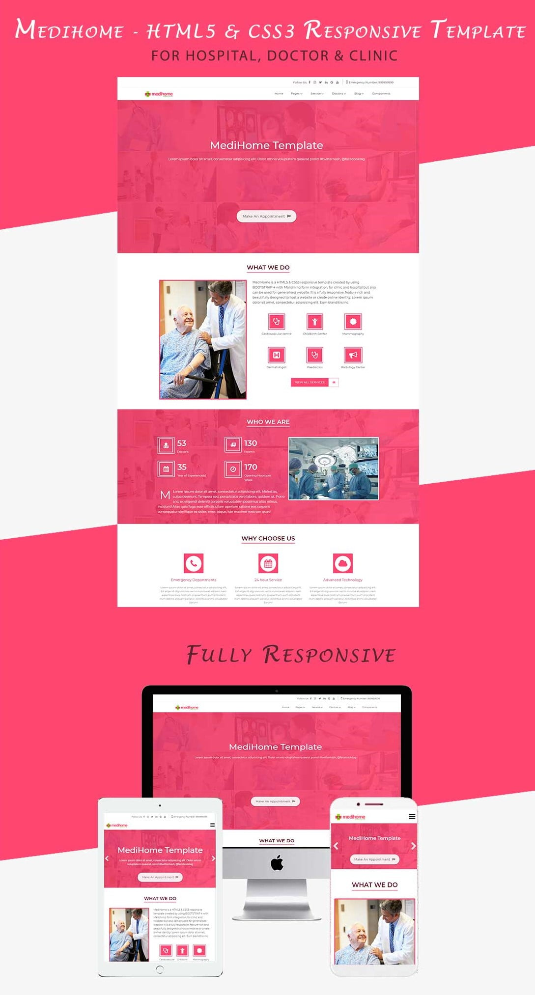 Medihome - HTML5 & CSS3 Responsive Template for Hospital & Clinic
