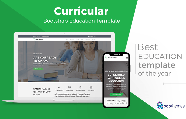 Online College Courses >> Curricular Bootstrap Education Template For University