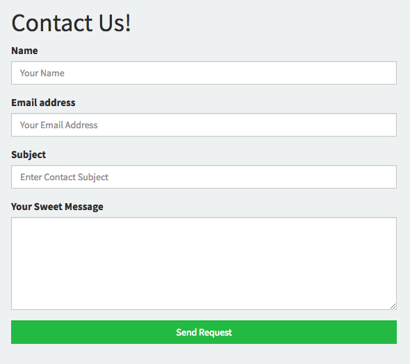 10 Free and Easy to Use Fully Working HTML Contact Forms | GrayGrids