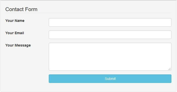 this website is about implementing and creating an elegant contact form with bootstrap ajax and php