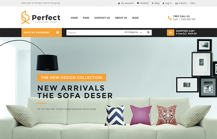 Perfect Responsive Ecommerce Html5 Template