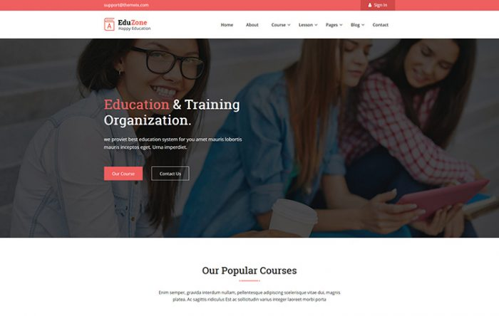 Professional html bootstrap business templates graygrids eduzone education html site template cheaphphosting Images