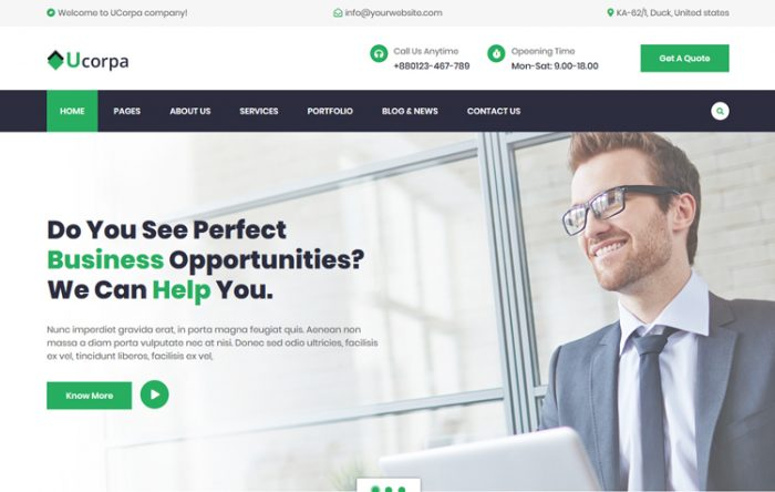 Professional html bootstrap business templates graygrids ucorpa multipurpose corporate html5 template wajeb Gallery