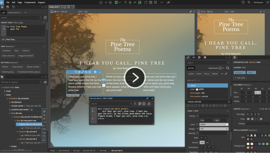 8 best free and premium bootstrap editors and builders