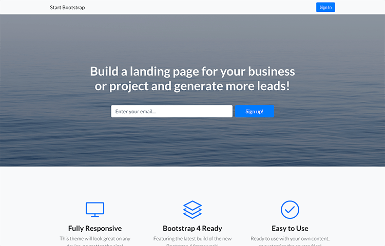 30+ Best Free One Page Website Templates of 2019 | GrayGrids