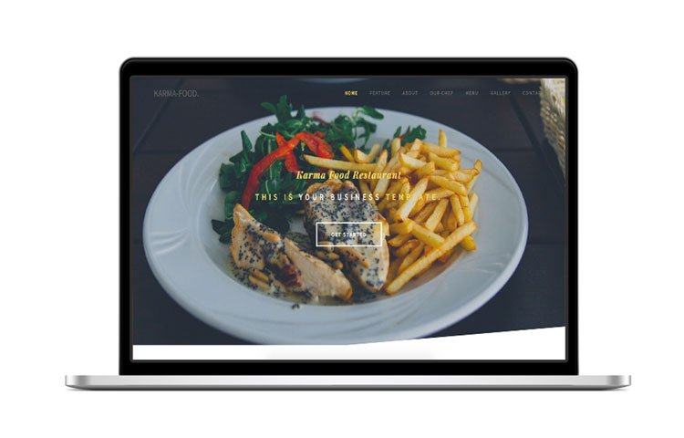 Karma - Bootstrap Food Restaurant Template | GrayGrids