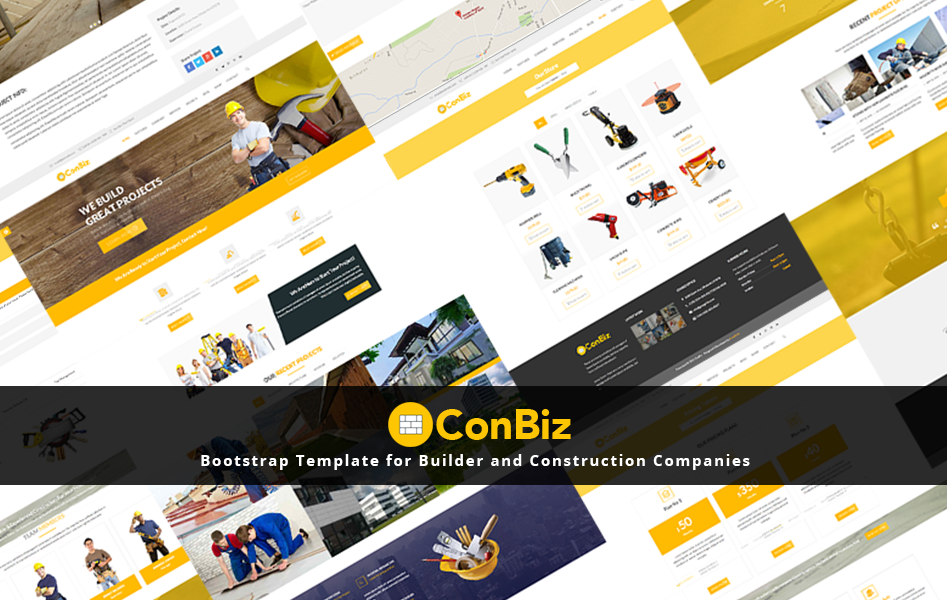 Conbiz Website Template For Construction Or Builder Company