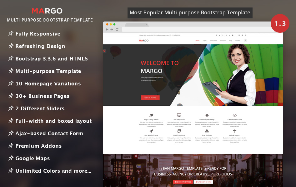 120 best free and premium bootstrap website templates of 2018 margo 13 cheaphphosting Images