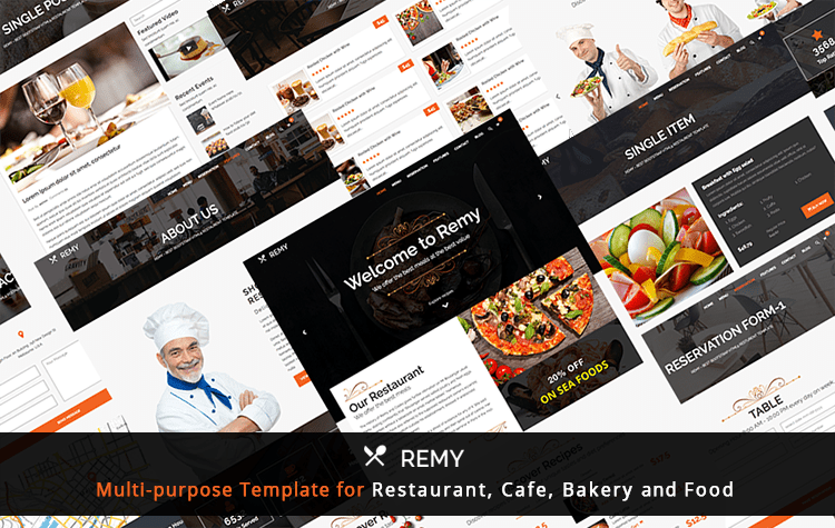 Remy - Multi-purpose Best Website Template for Restaurant