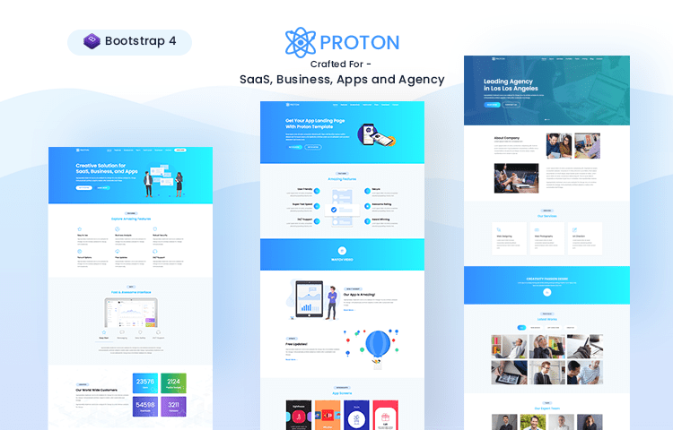 30 free bootstrap templates to download in 2018 proton is bootstrap 4 based web template crafted for webapp landingpage saas mobile app site and agencies it is clean and trendy template comes with flashek Images