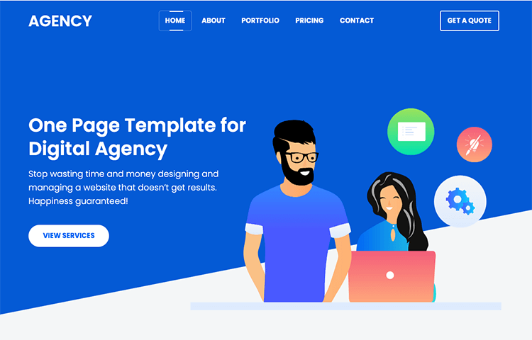 bootstrap agency template