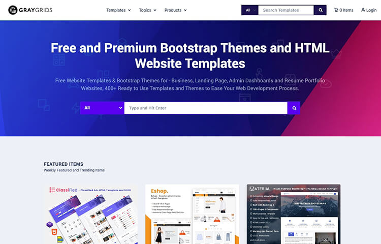 Free Html Site Templates And Bootstrap Themes Graygrids